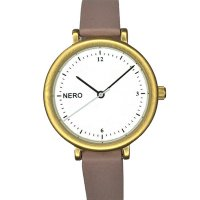 Zara gold & dusty pink Designed in Australia by NERO this version of the Zara watch has a clear white dial  black numbers and white second hand to create an individual bespoke watchA. Please Click the image for more information.
