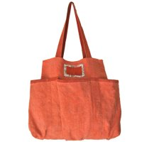 Elke orange Made from soft washed jute it is large enough for multi purpose  great to hold babys essentialsPockets on the side are useful of holding bottles or fragile itemsEcofr. Please Click the image for more information.