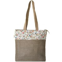 Rosie Classic stylish jute tote with flower border trim is perfect for shopping or beachZip top keeps everything safe insideEco. Please Click the image for more information.
