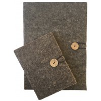 Ultimo Classic clean lines of natural chocolate brown felt with straight cut hand made archival paper and a simple button clasp  simply perfectD. Please Click the image for more information.