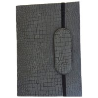 Bottego - charcoal Designed by NERO in Australia this classic series of journals in  matt suede croco finish is hand made . Please Click the image for more information.