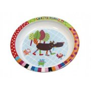Ebulobo Crazy Wolf Plate Make mealtime exciting with this large melamine plate featuring Louloup the Crazy Wolf The Crazy Cuddly Wolf is a collection of toys which tells the story of a crazy cuddly wolf and his friends . Please Click the image for more information.