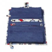 Willow and Finch Blue Leaves Jewellery Wallet SOLD OUT This all purpose jewellery wallet is extremely practical as well as being very stylish Inside there is a large zip pocket for large pieces . Please Click the image for more information.