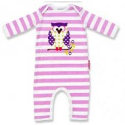 Olive and Moss Owl Playsuit Our Otto the Owl Playsuit is a lilac and white striped number with an Otto the Owl print on the front and has a matching Hat with an adjustable knot. Please Click the image for more information.