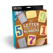 Letter Pressed Numbers Go ahead do the math Numbers made out of cookies are 99 more delicious than the usual kind Letter Pressed Numbers have a punch side for creating crisp shapes and a mold side for getting the numbers just right. Please Click the image for more information.