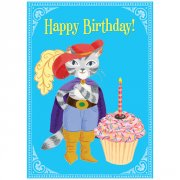 Eeboo Cat with Giant Cupcake Card Cat with Giant Cupcake Birthday Card Inside Make a big wishIllustration by Lizzy Rockwell Cards are 5 x 7Comes with its own unique envelopePrinted with soy based inks Please Click the image for more information.