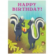 Eeboo Skunk s with Presents Birthday Card Skunks with Presents Birthday Card Inside Hope its fun and stinky Illustration by Brandon Reese Cards are 5 x 7Comes with its own unique envelopeEach style includes 6 pairs of cards and envelopesPrinted with soy based inks Please Click the image for more information.