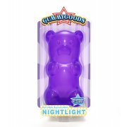 GummyGood Gummy Bear Night Light purple SOLD OUT Give this practical yet totally gorgeous bear a big belly squeeze and he lights up the room with his long lasting LED light. Please Click the image for more information.