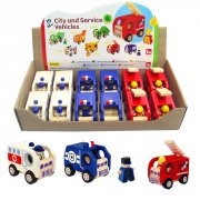 Artiwood - City and Service Vehicles  Artiwood City and Service Vehicles are wooden toys on wheels in the forms of police cars fire trucks and ambulances The. Please Click the image for more information.