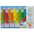 Djeco Finger Paint SOLD OUT Beautiful quality finger paints in brilliant colours Includes lime red organe yellow green and blue plus a palette for mixing like a real artist Please Click the image for more information.