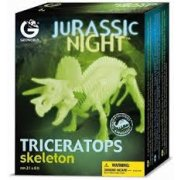 Jurassic Night Triceratops A faithful replica of a Triceratops skeleton in a fantastic glowing version in 14 pieces to be assembled . Please Click the image for more information.