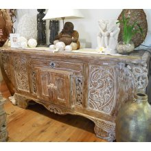 AW 2360 Antique Boat Teak Carved Buffet  Antique Boat Teak Carved Buffet Please Click the image for more information.