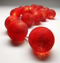 Red Ball Christmas lights The Christmas String lights are warm LED  providing a beautiful warmtone light and consuming very little power making them a great sustainable decoration and giftPerf. Please Click the image for more information.