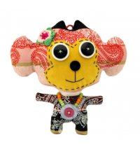 Monkey Monster Doll Our cute as a button dolls are hand made using remnants and recycled fabrics beads buttons and crochet flowers making them truly uniqueThe . Please Click the image for more information.
