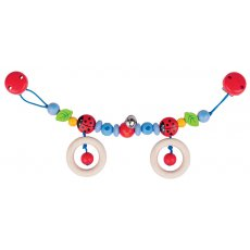 Heimess Pram Chain Ladybird Encourage babys hand eye coordination and fine motor skills with the Ladybird Pram Clip So simple to use  all you need to do is attach her to each side of the pram and off you go Ba. Please Click the image for more information.
