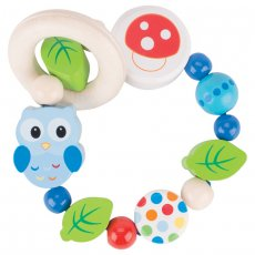 heimess owl rattle This friendly owl is designed to stimulate your baby in the early months Soft colours with spots and dots make this rattle inviting and engaging . Please Click the image for more information.