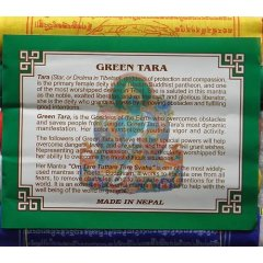 Tibetan Prayer Flags Green Tara Mantra Remover of Obstacles & Fears x 5 Rolls  You are buying 5 rolls of 100 Cotton prayer flags with the Green Tara MantraEach roll has 10 flags on a string to be hung horizontally2 x yellow 2 x white 2 x red 2 x green  2 x blue1 x flag measures 24 x 20 cmBuddhist belief is strong in the power of these sacred flags The colours of. Please Click the image for more information.