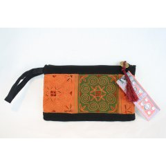 Hill Tribe Embroidered Purse with Wrist Strap - Assorted colours and designs. Hill Tribe Embroidered Fabric Purse with Wrist Strap  Available in assorted colours and designs Has a zip closure at top with coin decoration and wrist strap T. Please Click the image for more information.