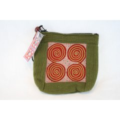 Lao Hmong Hill Tribe Coin Purse - Assorted colours and designs - 10cm x 10cm Hill Tribe embroidered fabric coin purse  zip closure at top with bead decoration This small square purse measures 10cm x 10cm and is a perfect size to carry small items like keys and change Av. Please Click the image for more information.