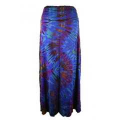*Best Seller* Tie Dye Stretch Rayon - Long Skirt - One Size A very popular design this Tie Dye Stretch Rayon Long Skirt comes in One Size and an array of beautiful colours. Please Click the image for more information.