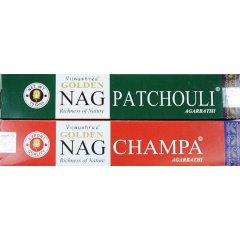 1 Box x Vijayshree Golden Nag Incense - 15gm each - 2 varieties Vijayshree Golden Nag Incense Range   15gm box  2 varieties  These are 2 of the very popular incense varieties from the Vijayshree Fragrance in India En. Please Click the image for more information.