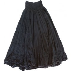 Long 5 Tier Crushed 100% Cotton Lined Skirt with Elastic Waist, One Size Quality 100 Crushed Cotton 5 Tier Long Gypsy Skirt This flattering design has an easy fit Elastic Waist and a Cotton LiningOne s. Please Click the image for more information.
