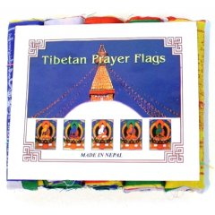 5 Rolls of Small Cotton Tibetan Prayer Flags 50 Flags/5 Affirmation Mantras  1 pack contains 5 rolls of 50 cotton flags  sewn along a string to be hung horizontally1 roll has 10 flags 5 mantras  2 x success 2 x long life 2 x prosperity 2 x peace  2 x knowledge5 colours  2 x white 2 x yellow 2 x red 2 x blue  2 x green1 flag measures 110 mm  x 125 mm Approx length of 1 string  130 cm Buddhist belief is strong in the power of these sacred flags The colours of a prayer flag a. Please Click the image for more information.