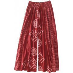 Marketique 100% Cotton Wide Leg Culotte Pants with a Shirred Waist. 100 Cotton Wide leg Culotte Pants with a Shirred WaistCool  ComfortableAvailable in Black  Red Oriental Print  BlackOne Size 10  16 Please Click the image for more information.