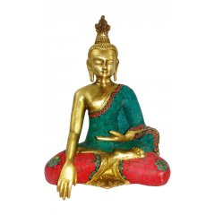 Bronze Cambodian Meditation Buddha Statue w Stone Mosiac-Peace & Protection -3Kg This beautiful Bronze Cambodian Buddha sits in the Meditation pose and has been decorated with a striking stone Mosaic designTh. Please Click the image for more information.