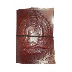 Hand Made Leather Bound Book/Journal -Medium-with a hand tooled cover -3 designs Hand Made Leather Bound BookJournal  Medium  with a hand tooledstamped cover featuring either a Buddah Ganesh or Om design The . Please Click the image for more information.