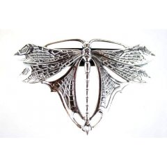 Australian Made Hair Clip Dragonfly- Small Pewter Core with quality STG Silver Plating Finish This beautiful hair clip is functional durable and eye catching with a strong spring clip on the backSize. Please Click the image for more information.