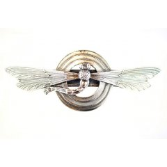 Australian Made Hair Clip Dragonfly Circle Pewter Core with quality STG Silver Plating Finish This beautiful hair clip is functional durable and eye catching with a strong spring clip on the backSize. Please Click the image for more information.