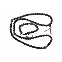 Mala Necklace Rosewood w Turquoise Beads Meditation Buddha 108/8mm Prayer Beads This Mala Necklace has 108 Rosewood Beads separated in 3 sections by a Turquoise Bead  2 Orange Glass beads Does not include BraceletMade in NepalMala beads are a set of beads traditionally used in prayer and meditationOften cal. Please Click the image for more information.