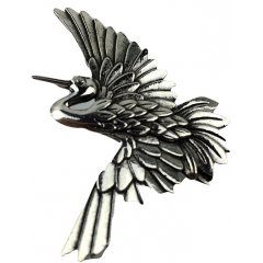 Australian Made Pewter STG Silver Plated Crane Brooch   Pewter Core with quality STG Silver Plating Finish This beautiful Brooch is functional durable and eye catching with a strong Brooch pin at the backSize. Please Click the image for more information.