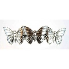 Australian Made Hair Clip 3 Butterflies Pewter Core with quality STG Silver Plating Finish This beautiful hair clip is functional durable and eye catching with a strong spring clip on the backSize. Please Click the image for more information.
