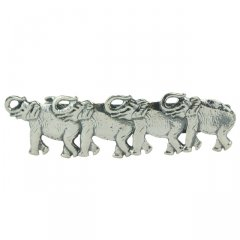 Australian Made Pewter STG Silver Plated 4 Elephants Hair Clip  Pewter Core with quality STG Silver Plating Finish This beautiful hair clip is functional durable and eye catching with a strong spring clip on the backSize. Please Click the image for more information.