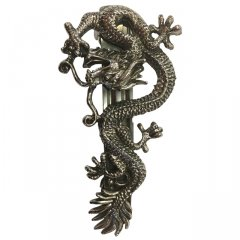 Australian Made Pewter STG Silver Plated Mythical Dragon Hair Clip  Pewter Core with quality STG Silver Plating Finish This beautiful hair clip is functional durable and eye catching with a strong spring clip on the backSize. Please Click the image for more information.