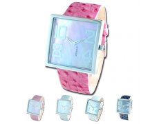 PINK Bold - Silver This eyecatching watch is not for the faint hearted  Revel in this stunning oversized real motherofpearl face set in a solid square stainless steel case Mat. Please Click the image for more information.