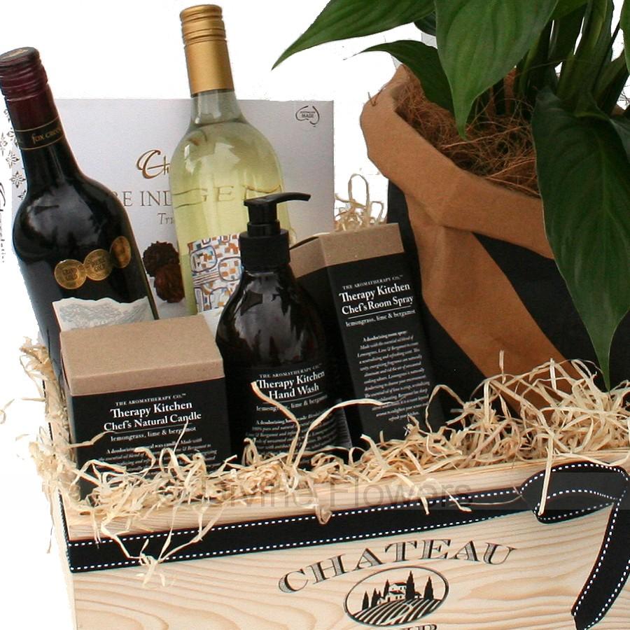 Wedding Gift Delivery Brisbane : Plants and Wine Gift Hamper Brisbane Same Day Delivery Wilston ...