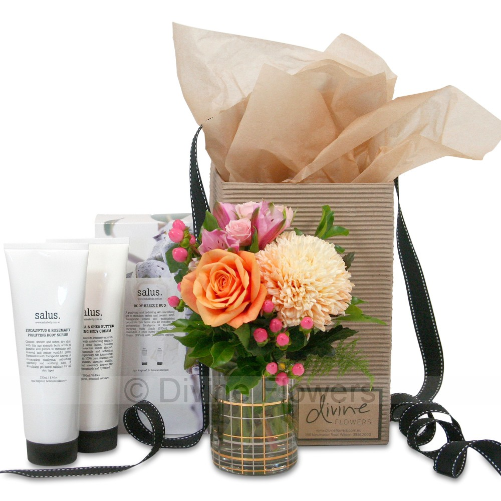 Wedding Gift Delivery Brisbane : Salus and Flowers Gift Gifts for Her Brisbane Gift Hampers ...