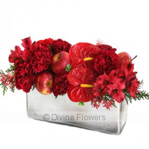 Product Image for Christmas Table Flowers In Red