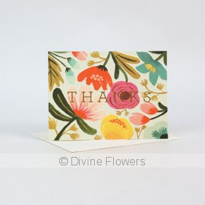 Product Image for Thanks Floral Card