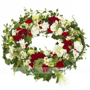 Product Image for Wreath-Red & White