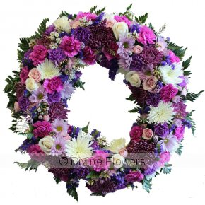 Product Image for Wreath Pink Purple and White