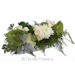 Product Image for Floral Hedge in White and Green