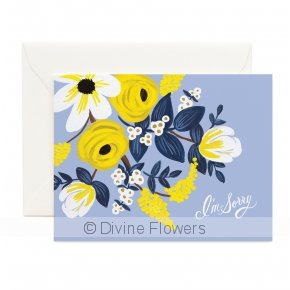 Product Image for Violet Floral - I'm Sorry Card