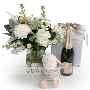 Product Image for White Vase, Lamb & Chandon