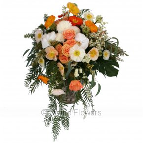 Product Image for Casket Flowers Citrus and White