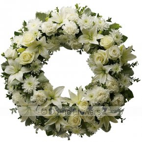 Product Image for Wreath White (Funeral Tribute)