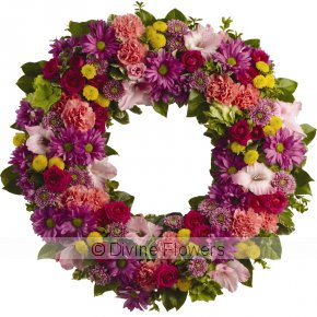 Product Image for Wreath Mid Brights (Funeral Tribute)